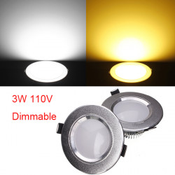 3W Cree LED Downlight Tak Infälld Lampa 110V Reglerbar + Driver