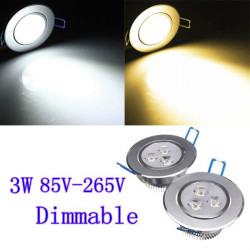 3W Dimmable Bright CREE LED Recessed Ceiling Down Light 85-265V