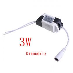 3W LED Dimbar Driver Transformator Nätaggregat för Lökar AC85-265V