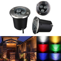 3W LED Waterproof Outdoor In Ground Garden Path Flood Landscape Light