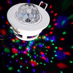 3W RGB LED Röststyrd Rotation Scenstrålkastare Taklampa DJ Disco