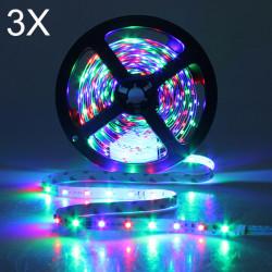 3X 5M 300LEDs SMD 3528 Flexible RGB LED Strip Light Non-Waterproof 12V