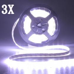 3X 5M 300 SMD 5630 weiße LED Streifen Licht DC 12V Wasserdicht IP65