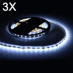3X 5M Vit 3528 SMD 300 LED Slinga Light Icke Vattentät 12V DC