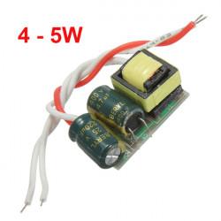 4-5W LED Driver Strömförsörjning Konstant Ström för Lampa 85-277V