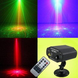 40 in 1 Remote Control Voice-activated Laser Strobe Stage Lighting