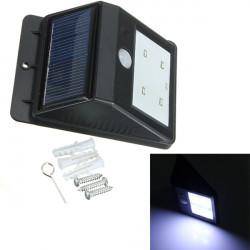 4 LED Solar Power PIR Motion Sensor Light Outdoor Garden Wall Lamp