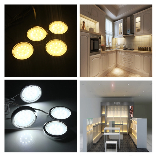 4P LED Home Kitchen Cabinet Shelf Night Light Energy-saving Lamp Bulbs LED Lighting