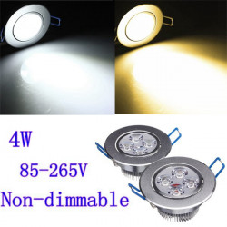 4W Bright CREE LED Recessed Ceiling Down Light 85-265V + Driver