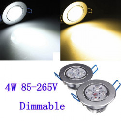 4W Dimmable Bright CREE LED Recessed Ceiling Down Light 85-265V