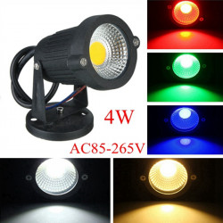 4W IP65 LED Flood Light With Base For Outdoor Landscape Garden Path AC85-265V
