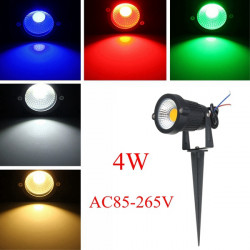 4W IP65 LED Flood Light With Rod For Outdoor Landscape Garden Path AC85-265V