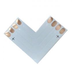 4pin LED Connector L Shape Corner for 10mm 5050 RGB LED Bånd Lysbånd