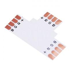 4pin LED Connector T Formad Corner för 10mm 5050 RGB LED Slinga Ljus