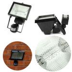 500W PIR Sensor Halogen Strålkastare Security Lamp Utomhus Garden LED-belysning