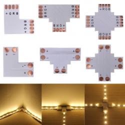 5050 RGB 4 Pin LED Streifen Verbindungs Corner 10mm DC 12 / 24V