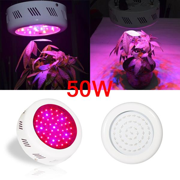 50W 1500LM Blå / Rød UFO Sparepære LED Vækstlampe 85-265V LED Belysning