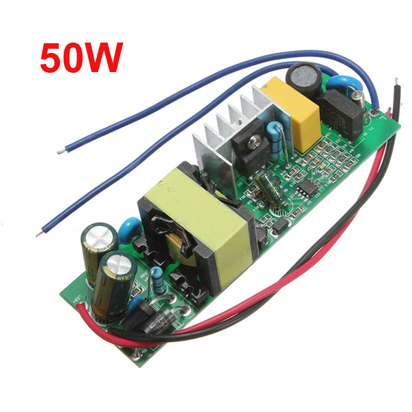 50W LED Driver Power Supply Constant Current For Flood Light 85-277V Lighting Accessories