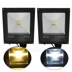50W PIR Rörelsesensor Ledde Fasadbelysning IP65 Varm / Kall Vit Belysning