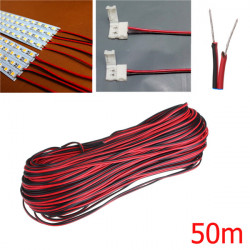 50m 2 Pin Extension Wire Connector Cable Cord For LED Strip Light