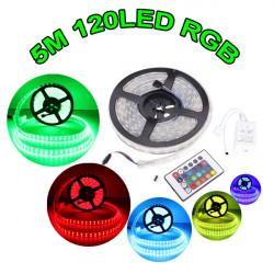 5M 120leds/m SMD 5050 Double Row RGB LED Strip Light Waterproof IP67