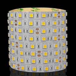 5M 300LEDs SMD 5050 Icke-vattentät LED Lysrör 24V