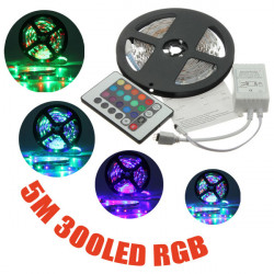 5M 3528 SMD RGB Non-Waterproof 300 LED Strip Light 12V DC