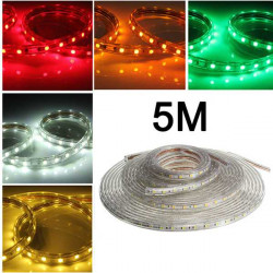 5M 5050 Waterproof IP67 Flexible Led Strip Light For XMAS Home Decor 110V