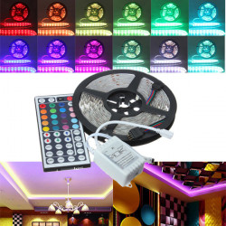 5M RGB 5050 SMD Non-waterproof 300 LED Lights Strip DC 12V