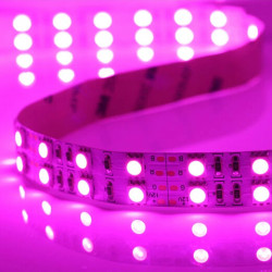 5M Super Bright 12V 600 SMD 5050 Pink Double-Row LED Bånd Lysbånd