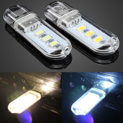 5V USB White/Warm White 3 SMD 5730 Reading Light
