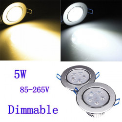 5W Dimmable Bright CREE LED Recessed Ceiling Down Light 85-265V