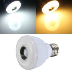 5W E27 25 LED 3528 SMD Lys Lampe Infrarød PIR Motion Sensor Detector