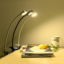5W LED Eye Protection Dimmable Table Lamp With Clip USB Reading Light