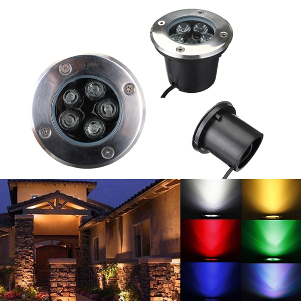 5W LED Vandtæt Udendørs I Ground Have Væg Flood Landskab Lys LED Belysning
