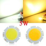 5W Round COB LED Bead Chips för Down Light Taklampa DC 15-17V LED-belysning
