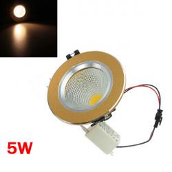 5W Varm Hvid COB LED Loft Downlight Golden Shell 85-265V