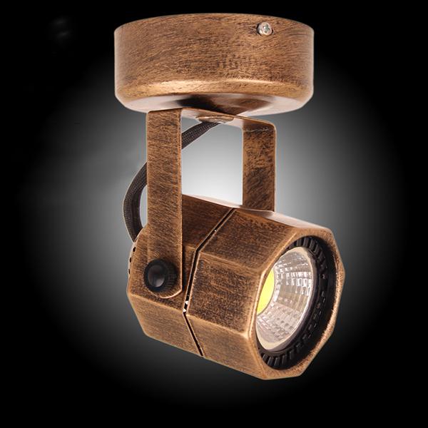 5W Varmvit LED COB Vintage Europeiska Typ Tak Spotlight LED-belysning