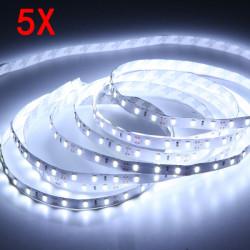 5X 5M Vit SMD5630 300 LED Lysrör Icke Vattentät Inomhusbruk 12V