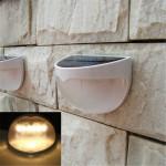 6 LED Solar Powered Vattentät Utomhus Trädgård Path Fence Vägglampa LED-belysning