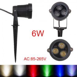 6W LED Flood Spotlampe Med Rod for Landskab Have IP65 AC 85-265V