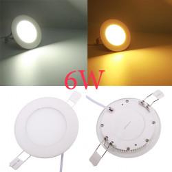 6W Round Tak Ultratunn Panel LED-lampa Downlight Ljus 85-265V