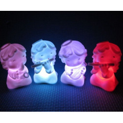 7 Color Changing Music Angel LED Night Light Decoration Lamp