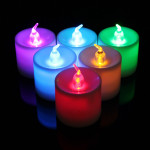 7 Color LED Monochrome Flash Candle Light Flicker Electronic Flameless LED Lighting