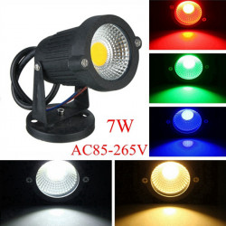 7W IP65 LED Flood Light With Base For Outdoor Landscape Garden Path AC85-265V