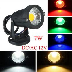 7W IP65 LED Projektør Med Base for Udendørs Landskab Have Væg DC / AC 12V