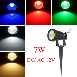 7W IP65 LED Flood Light With Rod For Outdoor Landscape Garden Path AC/DC12V