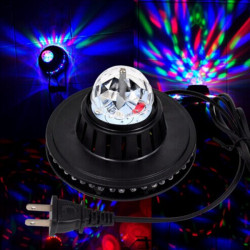 8W LED Voice-activated Rotating Crystal Magic Ball Stage Light Club Party