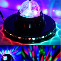 8W Roterande LED Club Diskoparty Crystal Magic Ball Sceneffekter Ljus