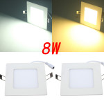 8W Square Ceiling Panel White/Warm White LED Lighting AC 85~265V LED Lighting